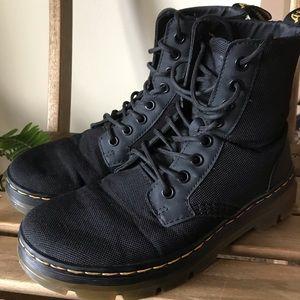 dr. martens black combs nylon boot mens 5womens 6